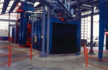 Тунельная дробеметная установка