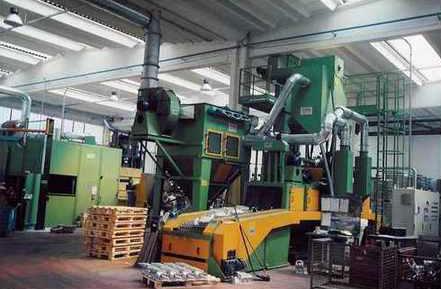 Современные дробеметные установки с сетчатым конвейером